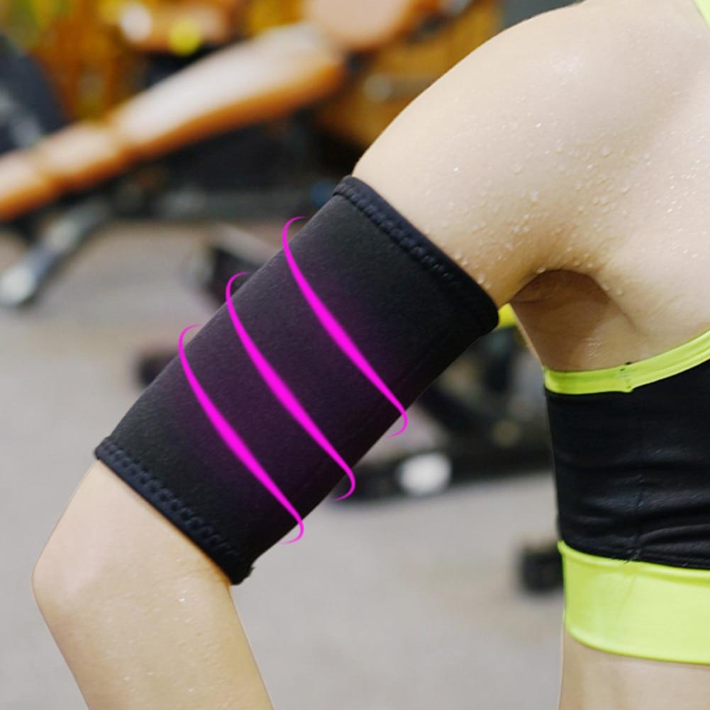 Cubierta de 2 uds de neopreno antideslizante para Fitness, adelgazante, manga para brazo, para exteriores, mujeres deportivas, quemador de grasa, moldeador de silueta, recortador de sudor