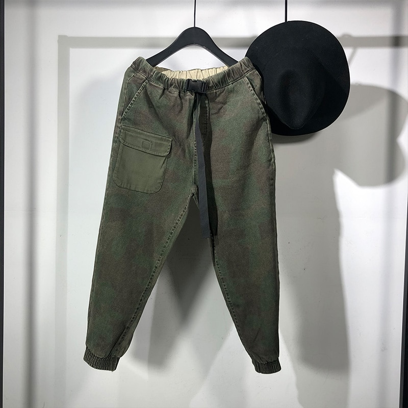 182 Seak-سروال حريم غير رسمي للرجال ، ملابس الشارع ، هيب هوب ، البضائع ، طول الكاحل ، التمويه ، بدلة رياضية Preppy ، الربيع