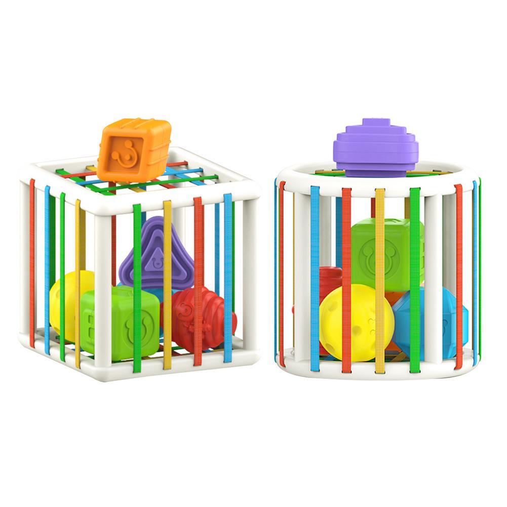 Детские игрушки, кубик для игр, детские игрушки для сортировки, Обучающие игрушки Монтессори для обучения, обучающие игрушки для детей