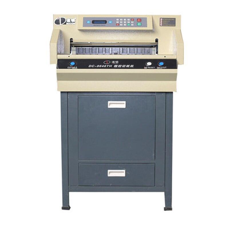 DC-8646TH برنامج الكهربائية التي تسيطر عليها طبقة سميكة الة قطع الورق/آلة قطع العطاء وثيقة كتاب الة قطع الورق الكهروضوئية