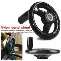 100125160200250mm black milling machine lathe cnc 3d printer spoked hand wheel round bakelite three handwheel lathe handle