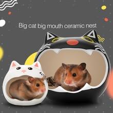 Ceramic House Summer Nest Hammok Hamster Rat Chinchillas Cage Golden Bear Sleeping Bed Hedgehog Squirrel Guinea Pig Accessories