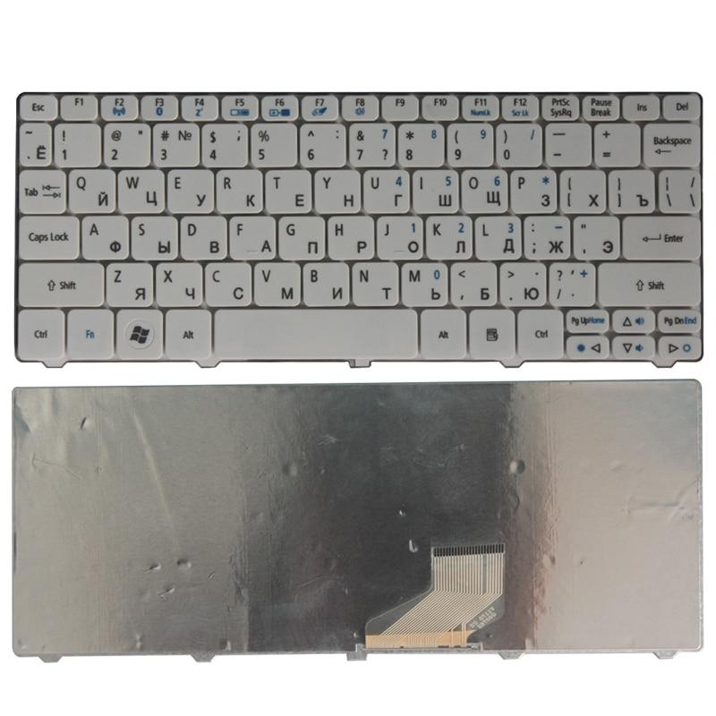 Новая русская клавиатура для ноутбука Acer Aspire One D257 AOD532H PAV70 NAV70 ZH9 PAV01 521 532 532H 533 D255 D260 D270, белая RU