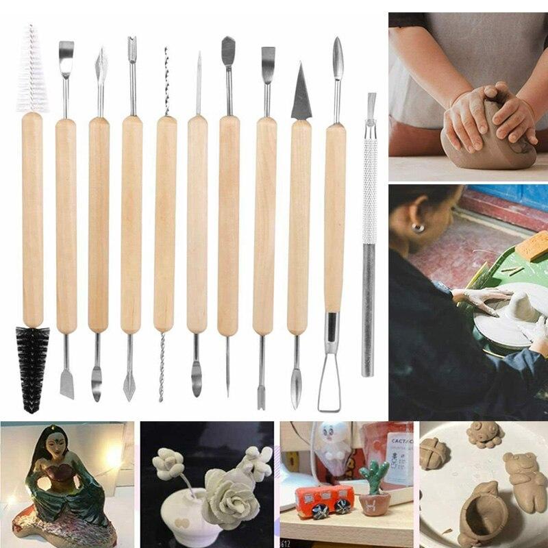 11 шт. глиняные изделия для резки набор инструментов керамические инструменты