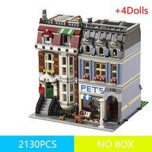 99006 84009 15009 2128 pièces animalerie supermarché ensembles modèle ville rue vue blocs de construction grandes briques jouets pour les enfants
