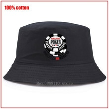 WSOP World Series of Poker 2016 Bucket Hats Women Men Black Panama Bucket Hat Fishing Fisherman Bob Hats Hip Hop Flat Caps