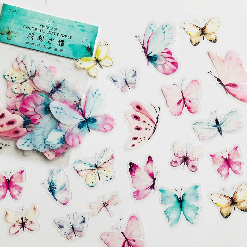 40-unids-bolsa-gradiente-de-color-rosa-verde-mariposa-decorativa-de-pvc-adhesivo-diy-portatil-decoracion