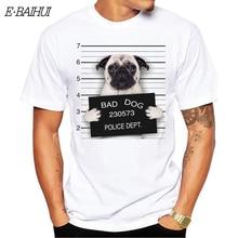 E-BAIHUI  new hip hop t shirts print tops tees Goofy t-shirt men tops  bad dog cartoon tshirt homme comfort t shirt T-67