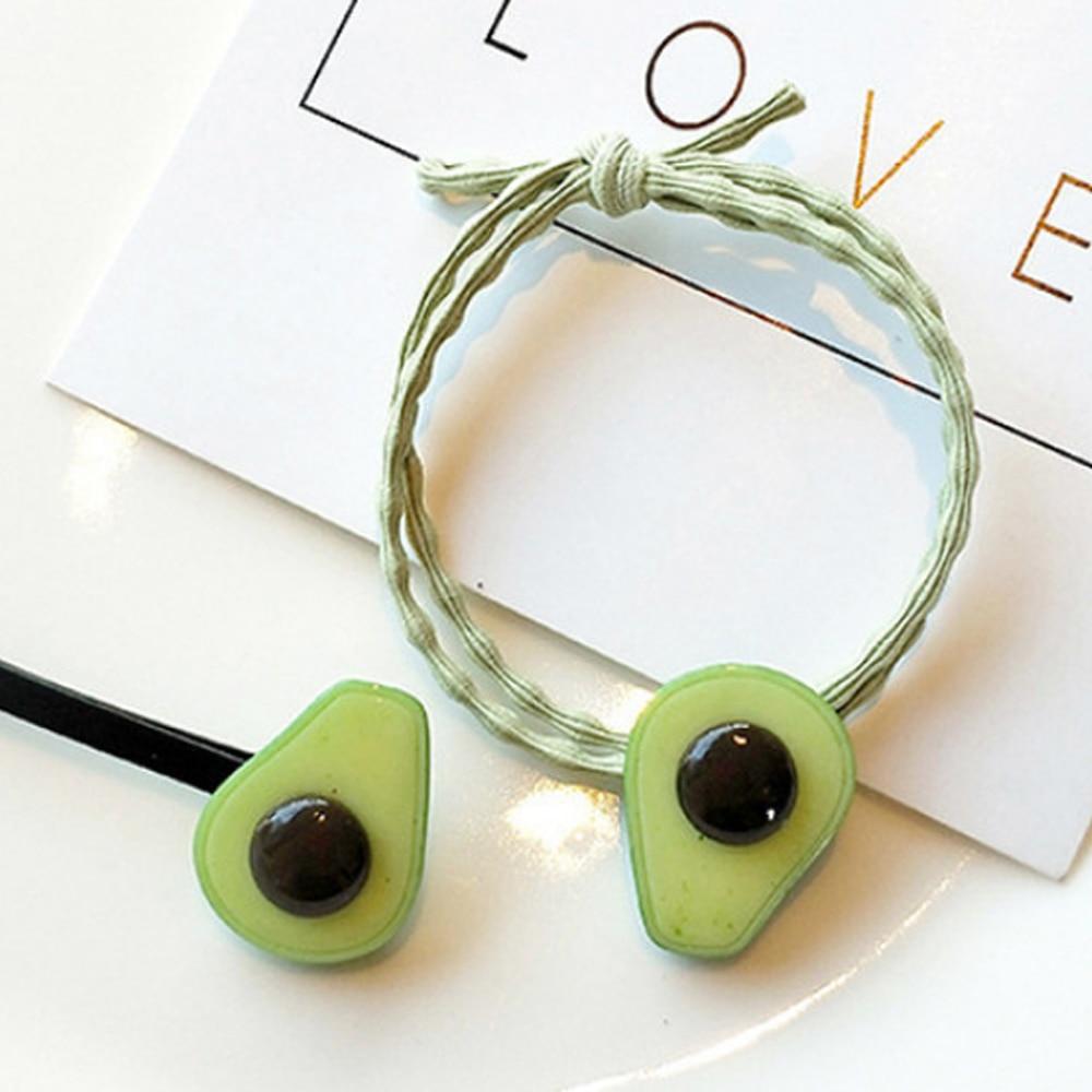 Conjunto de horquillas verdes de aguacate coreano de moda para mujer, tocado de cuerda de fruta para pasadores para niñas, accesorios para el cabello