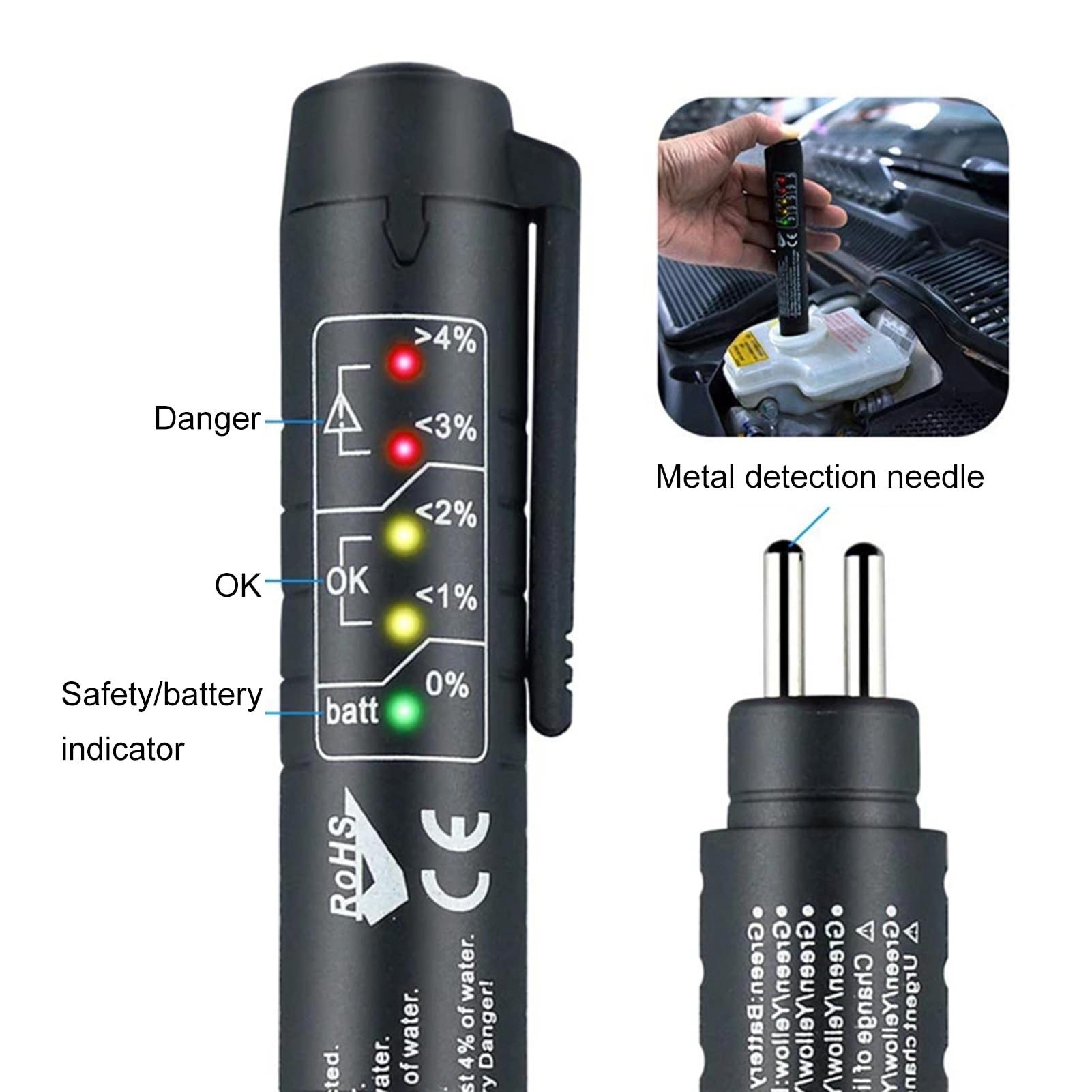 Тестер тормозной жидкости, светодиодный автомобильный инструмент для тестирования автомобильной тормозной жидкости, универсальный автом...