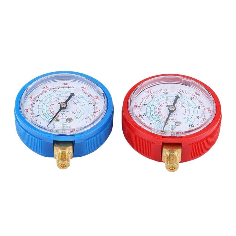 Medidor de presión de aire acondicionado para coche, 2 uds., alto y bajo, para refrigerante R410A R134A R22