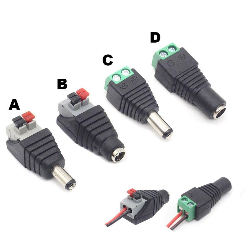Famale-adaptador de enchufe de corriente continua macho, Conector de 5,5mm x 2,1mm...