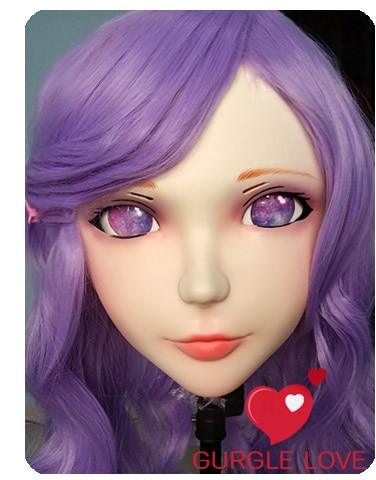(DM010) Máscara de resina Kigurumi BJD de chica dulce femenina Cosplay Anime japonés rol Lolita máscara Real realista travesti sexo amor muñeca