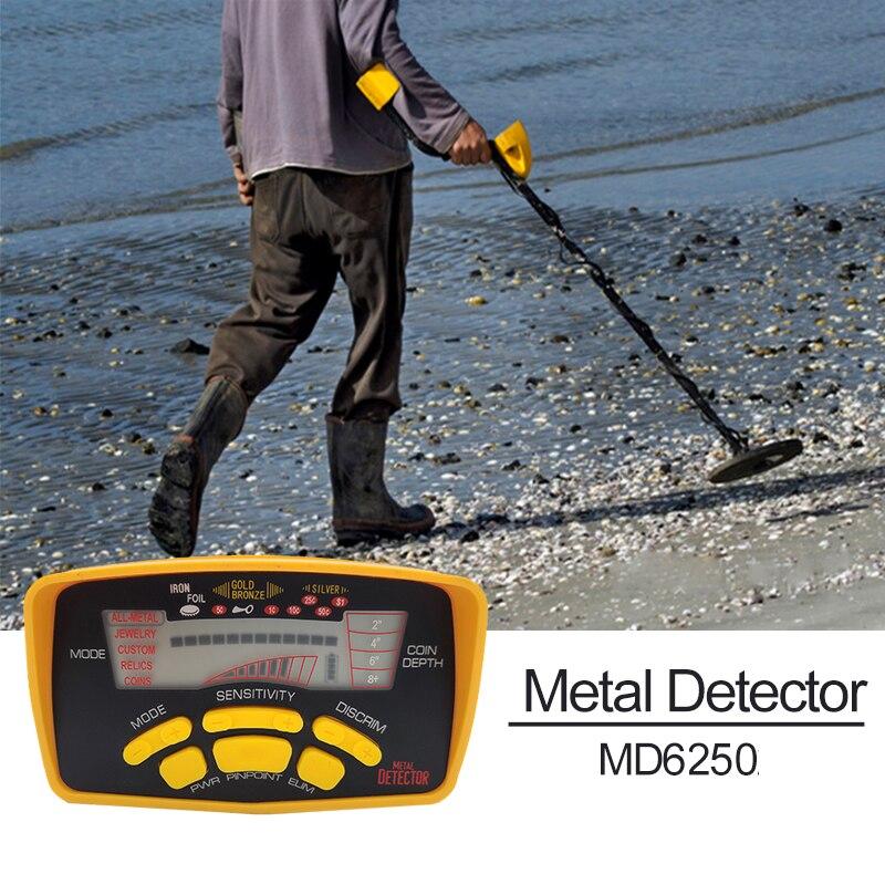 MD-6250 حساسية عالية للكشف عن المعادن المهنية الذهب حفار الكنز هنتر الكشف عن مؤشر مضاد للماء للكشف عن الذهب