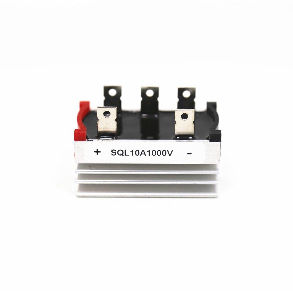 BLDC электродвигатель трехфазный мост выпрямление SQL10A SQL1010 SQL10-10 10A 1000V Выпрямитель рассеивания тепла