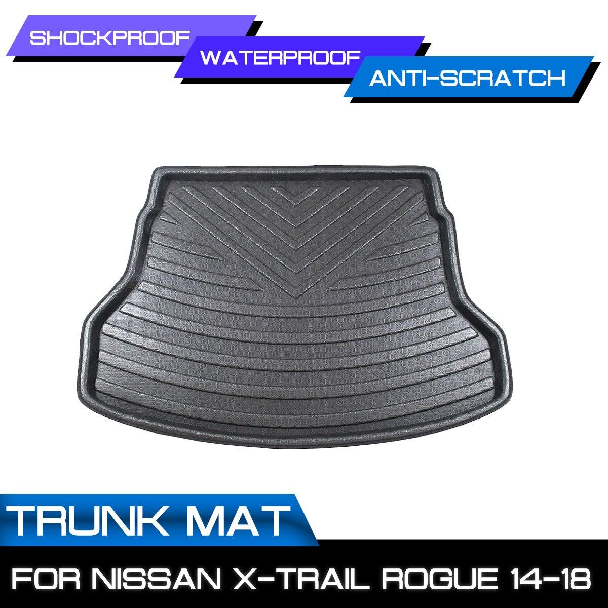 سجادة سيارة خلفية جذع مكافحة الطين غطاء الكلمة حصيرة لنيسان X-Trail روج 2014 2015 2016 2017 2018