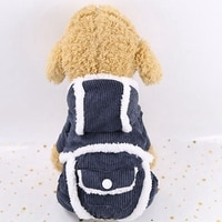 Pet Grooming Warm Accessories Winter Costume Corduroy Thickening Cotton-padded Breathable Healthy 4-legged Clothes 2019