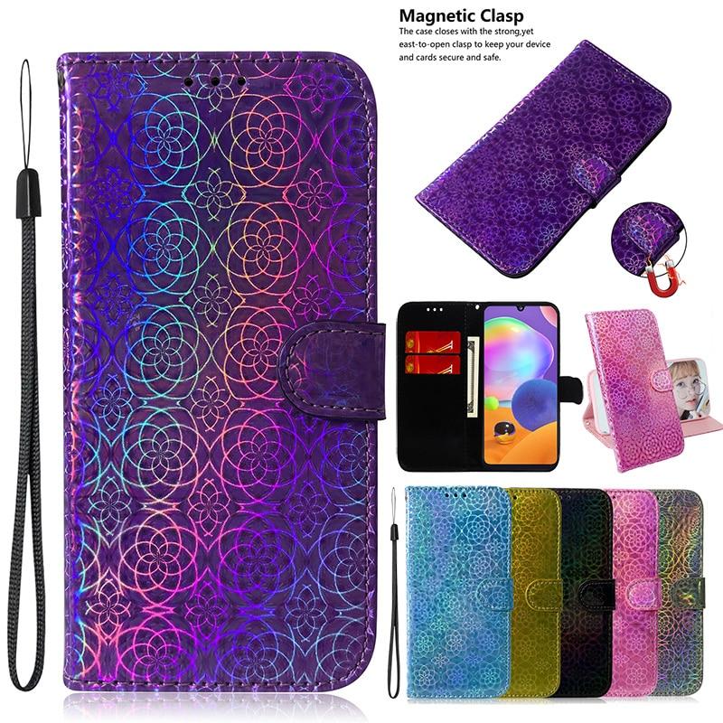 Gradient Color Leather Phone Case For Xiaomi Mi Redmi Note 6 7 7A 8 8A 9 9S 10 Pro Max A3 K30 Flip B