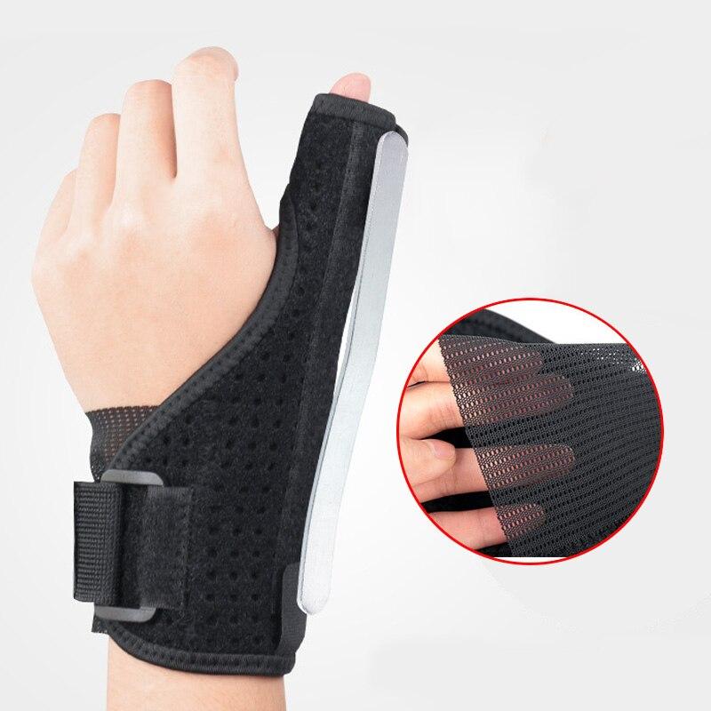1 Uds. Protector médico para pulgar y muñeca soporte de mano férula de acero estabilizador artritis túnel carpiano soporte para dedo Protector de muñeca