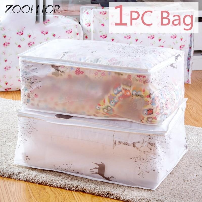 1Pc de moda caliente 2020 artículos domésticos bolsas de almacenamiento organizador ropa edredón acabado polvo bolsa edredones bolsa lavable edredones bolsas
