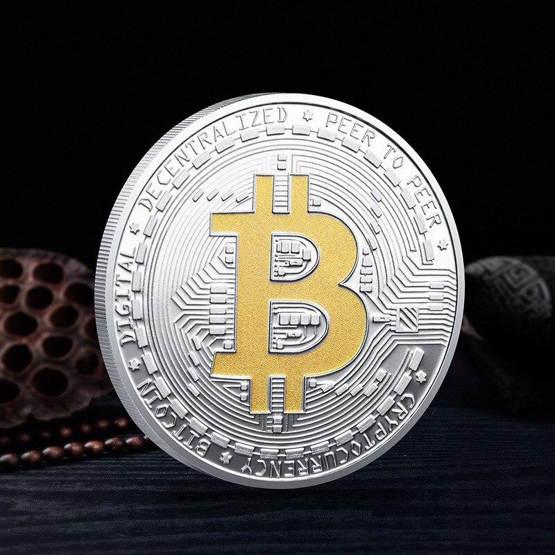 Bitcoin Physical BTC Plated Collection Gold Coin Collectible Gifts Commemorative Coins Ethereum Litecoin Ripple Coin Souvenir недорого