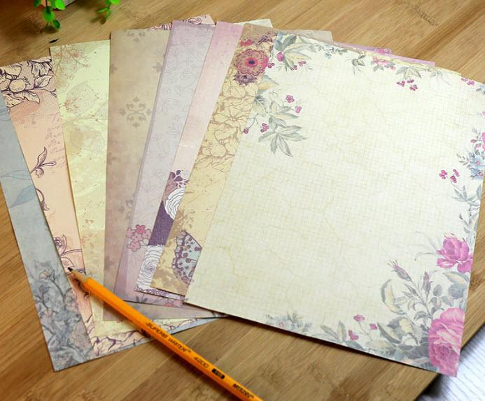 Романтический Ретро офисная сообщение записи Бумага письмо Нежный конверт для бумажного письма Бумага школьные канцелярские поставка 10 ст...