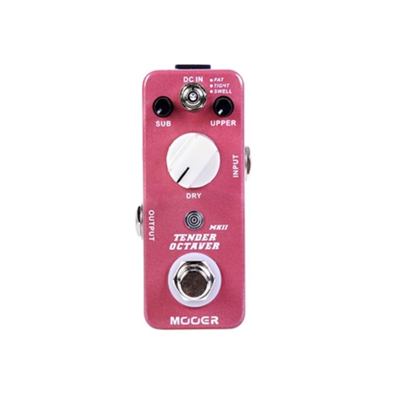 Mooer tender octaver mkii preciso octave pedal true bypass interruptor 1psc