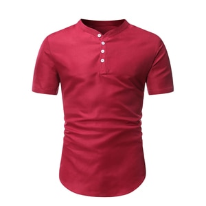 Solid Color Polo Shirt Short Sleeve Tops Male Fashion Wild Round neck Men Clothes Tees Summer New