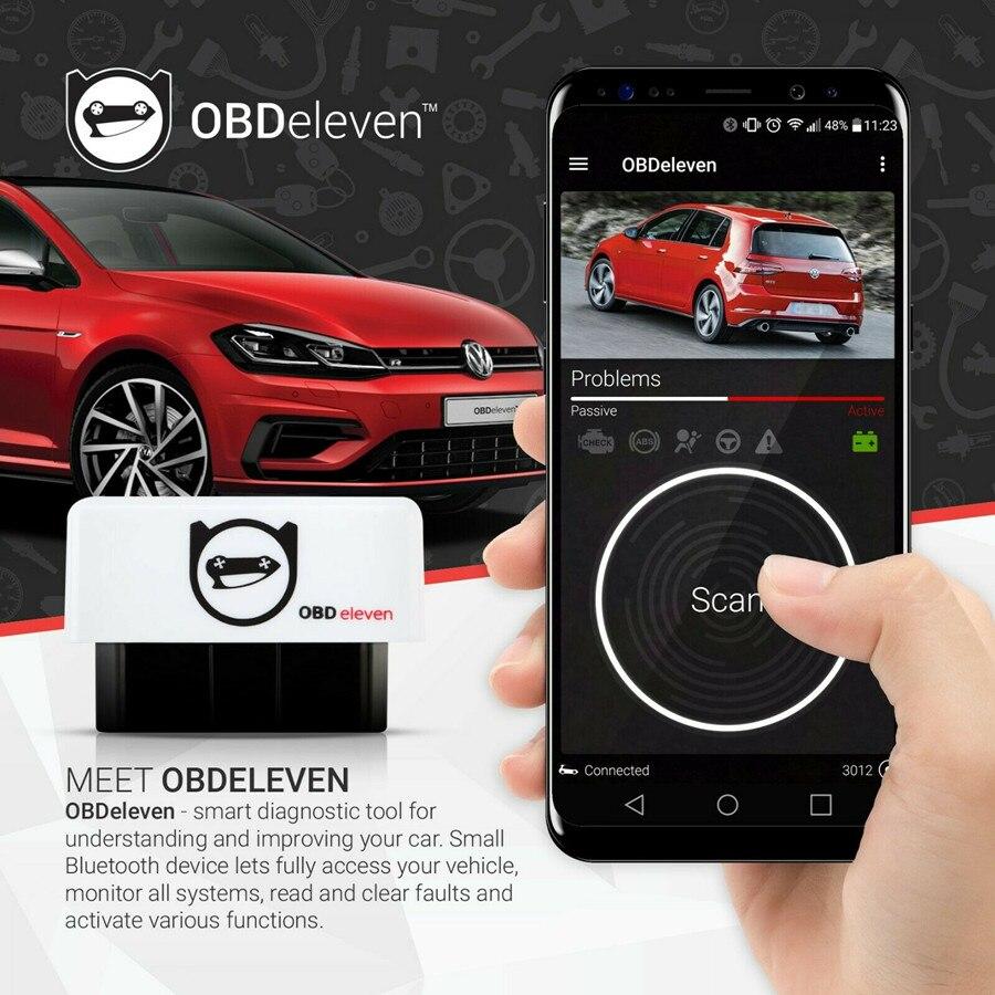 OBDeleven الأصلي OBD2 أداة تشخيص ل VW بولو جولف يدعم أندرويد ل Volkswagen/أودي A3 A4/مقعد/سكودا يمكن تصل إلى برو