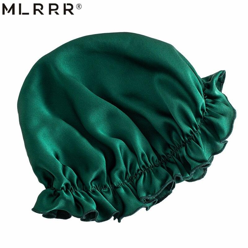 MLRRR 100% Silk Hair Headwear Nightcap Multicolor