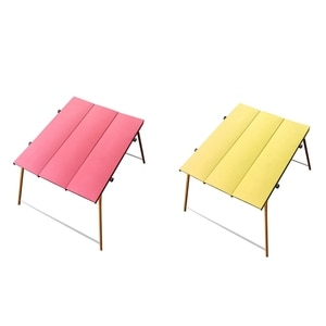 Outdoor Mini Aluminum Folding Table Folding Picnic Camping Table Portable Ultra Light Outdoor Dining Table