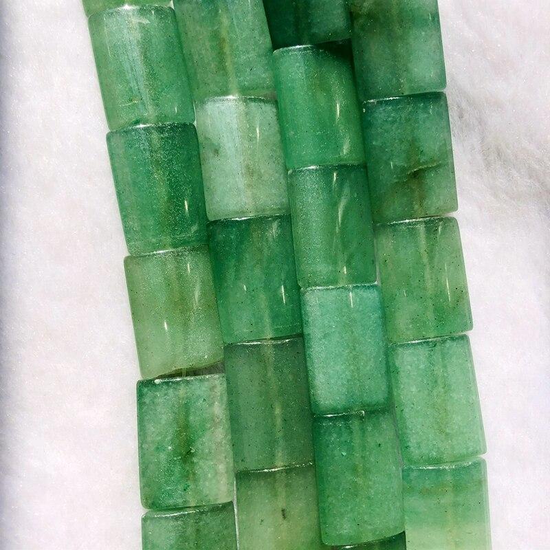 Piedra Aventurina verde cuentas de joyería 13x18mm rectángulo gema piedra moda joyería hacer cuentas 40 cm/cadena
