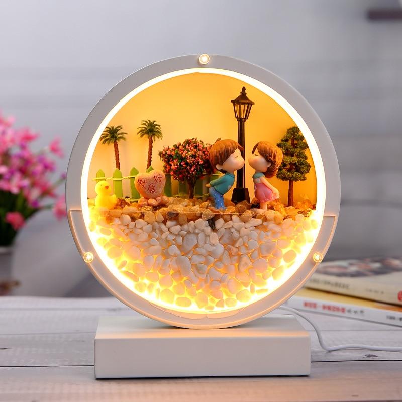 USB Immortal Flower Table Lamp Decoration Bedroom Bedside Lamp Decorative Lamp Lamps for Bedroom  Home Decor