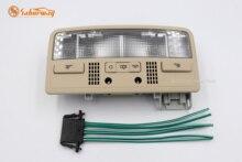 Saborway beżowy żarówki do wewnętrznych lamp samochodowych lampka do czytania + kabel do Passat B5 Octavia Superb 3B0 3BD 947 105 2EN 3BD947105
