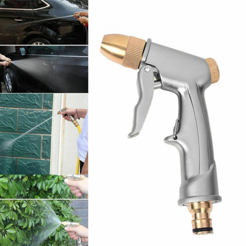 Pistola de Metal espray de agua a alta presión, boquilla de latón para lavado de coches, riego del jardín, manguera, niebla, herramienta de limpieza del coche