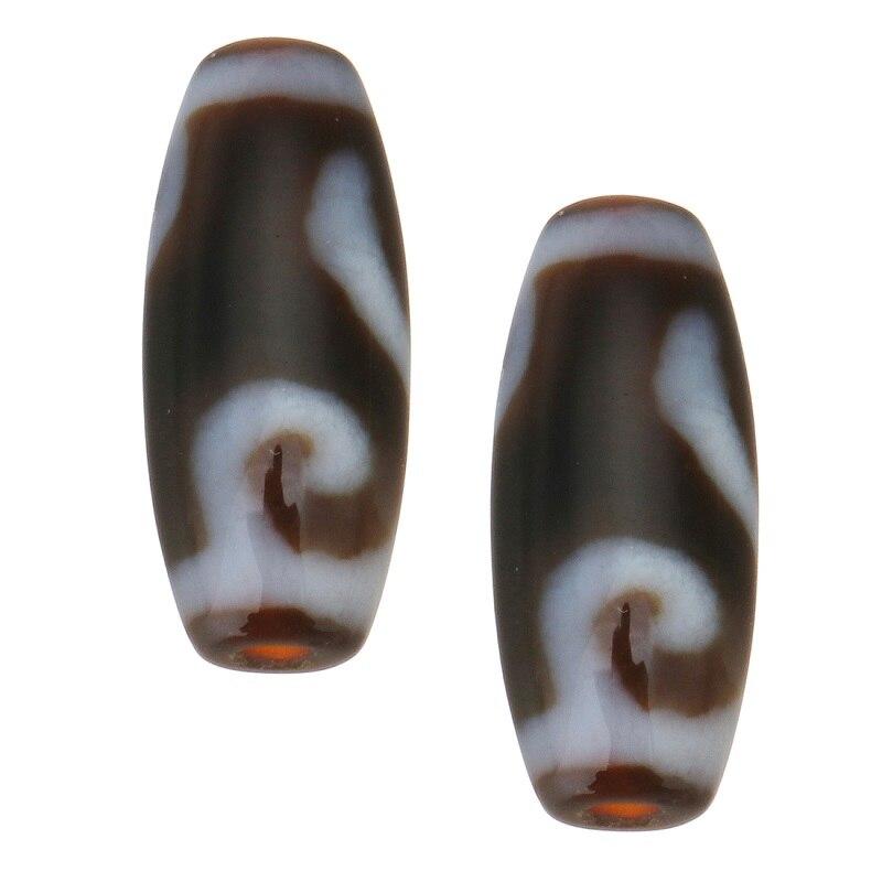 Natural tibetano pedra dzi contas oval aaa grau dinheiro gancho & dois tons ajuste pulseira diy moda jóias presente das mulheres dos homens 20x9x3mm