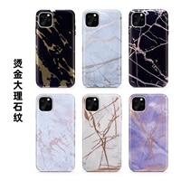 thicken bronzing gold granite stone marble phone case for iphone se 2020 12 mini 11 pro xs max xr x 7 8 plus matte back cover