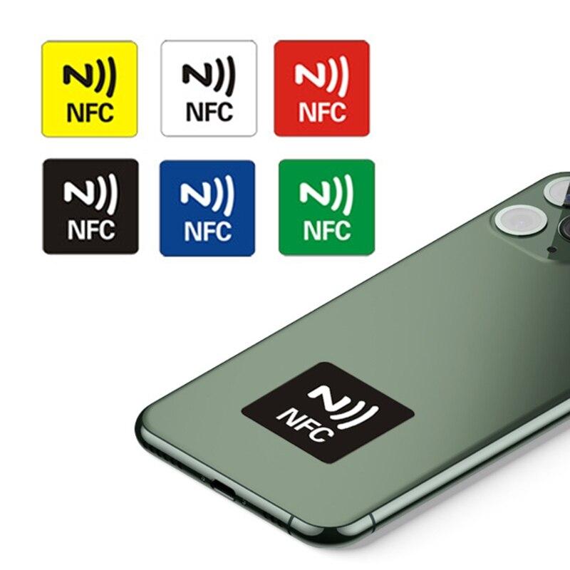 6 pces ntag216/ntag213 nfc etiqueta telefone disponível etiquetas adesivas rfid shipp r9cb