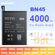 NOHON BN45 BM47 BM46 BN41 BM45 BN35 BN46 BM4A BP40 BP41 батарея для Xiaomi Redmi K20 Pro 3 3X 3S 4 4X 5A 5 Plus Note 2 3 4 4X 5