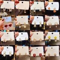2021 new fashion trendy earrings for women korean elegant sweet party pendientes gilrs fashion jewelry kolczyki drop shipping