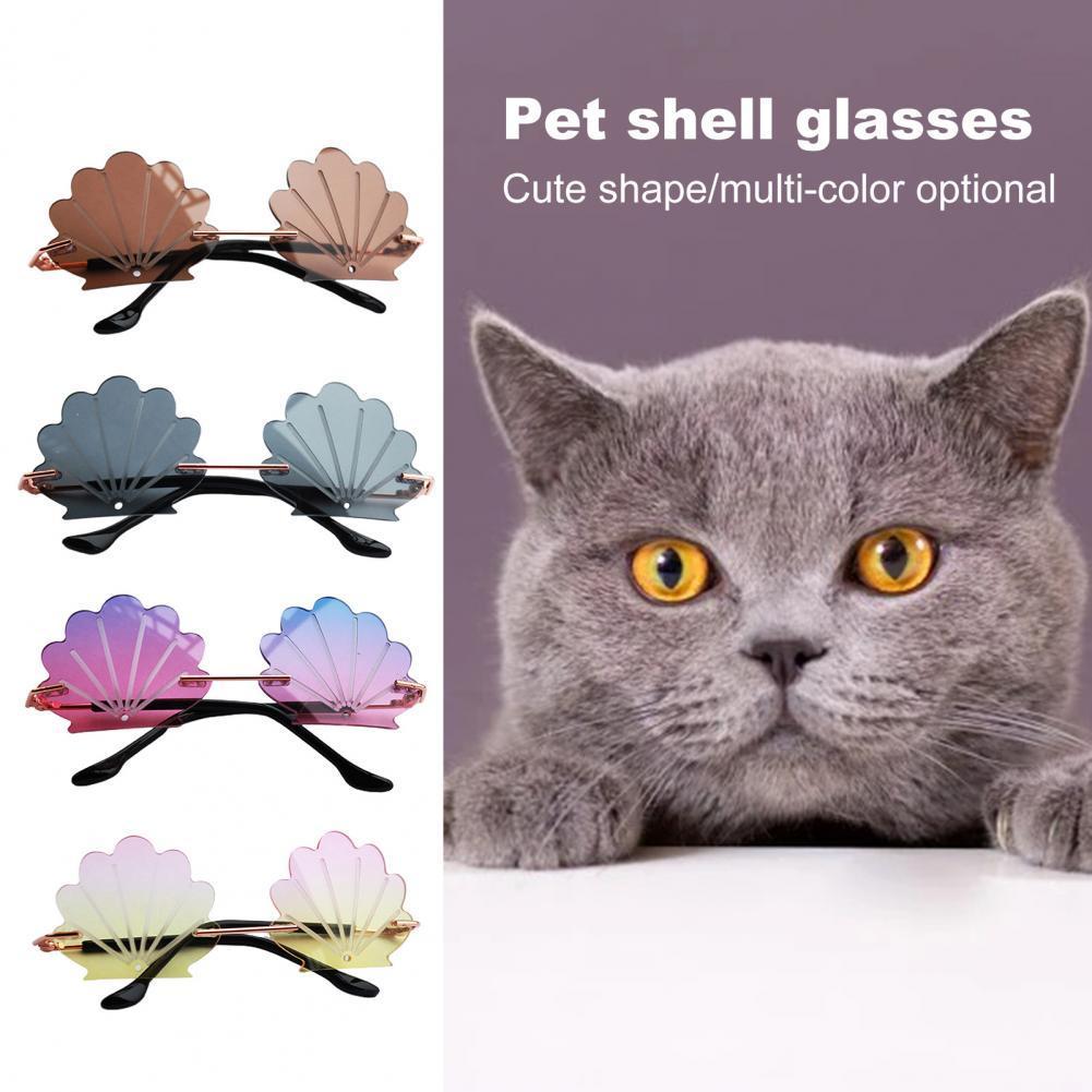 Стильные очки для кошек без оправы, крутой костюм для вечеринки, реквизит для фото, солнцезащитные очки для домашних животных, солнцезащитн...
