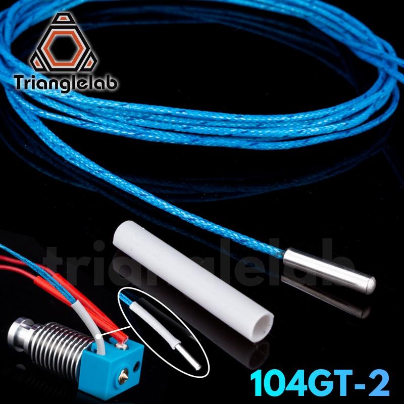 Trianglelab ATC Semitec 104GT-2 104NT-4-R025H42G термистор картридж высокой температуры 280℃ для E3D V6 вулканический обогреватель блок