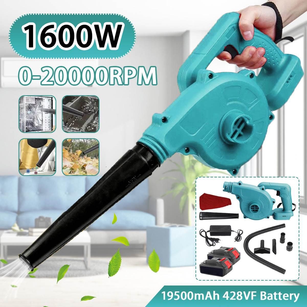 2 في 1 اللاسلكي 1600 واط 20000R/دقيقة 428VF منفاخ الهواء فراغ تنظيف منفاخ الكهربائية ورقة منظف الغبار لبطارية ماكيتا 18 فولت