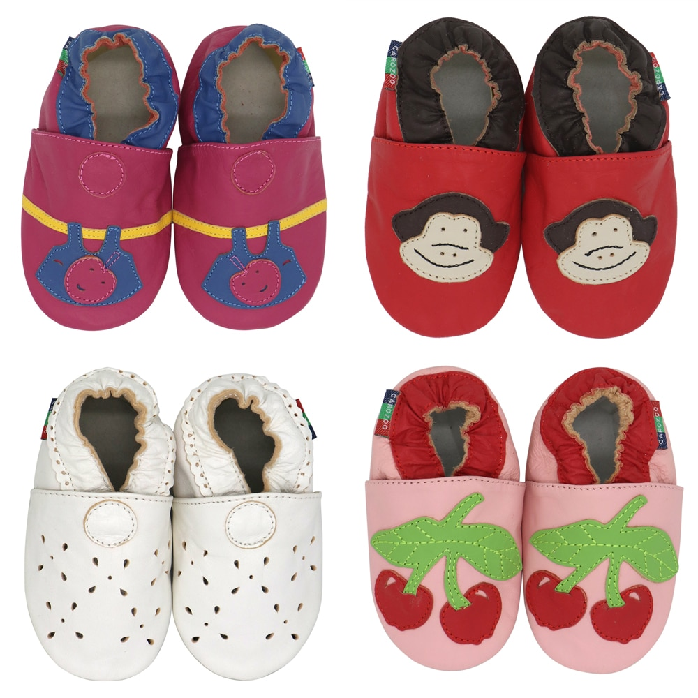 Carozoo New Leather Soft Sole Baby Shoes Toddler Slippers Up To 4 Years Newborn