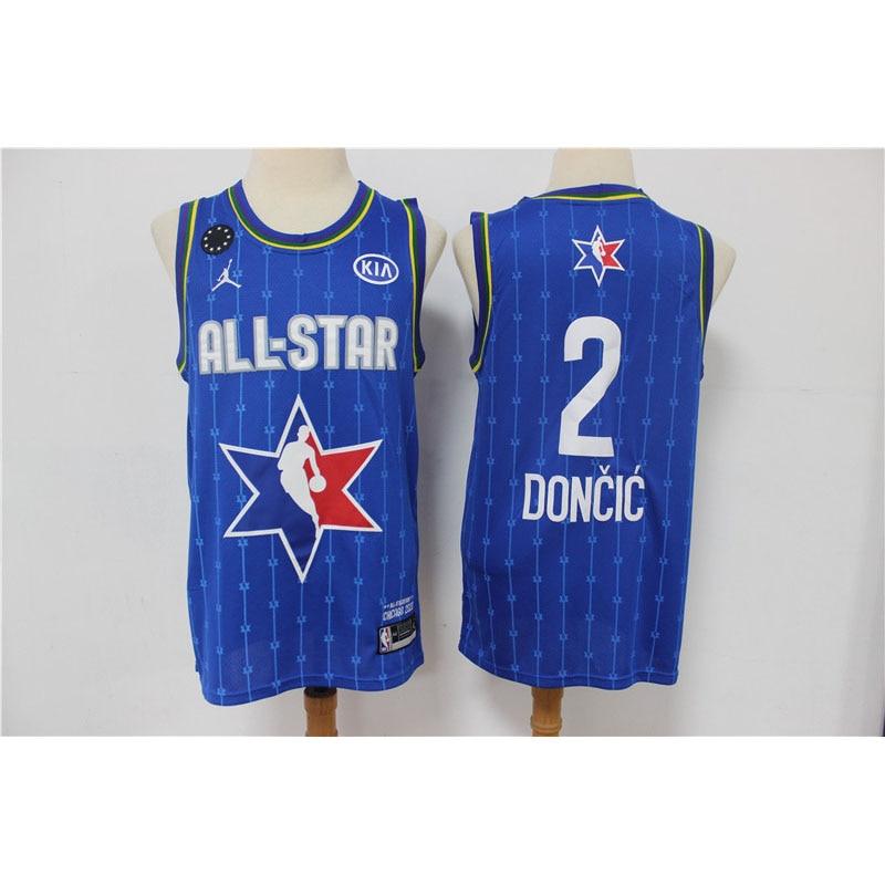 Camiseta de baloncesto NBA 2020 All Stars, camisetas de baloncesto azul y...