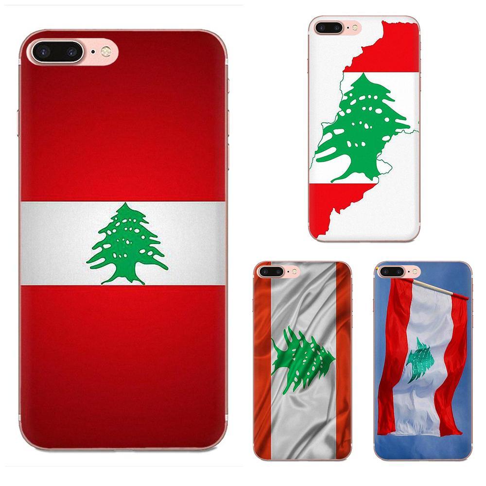 Para Xiaomi Mi3 Mi4 Mi4C Mi4i Mi5 Mi 5S 5X 6 6X 8 SE Pro Lite A1 Max Mix 2 Note 3 4 patrón funda de teléfono suave bandera del Líbano