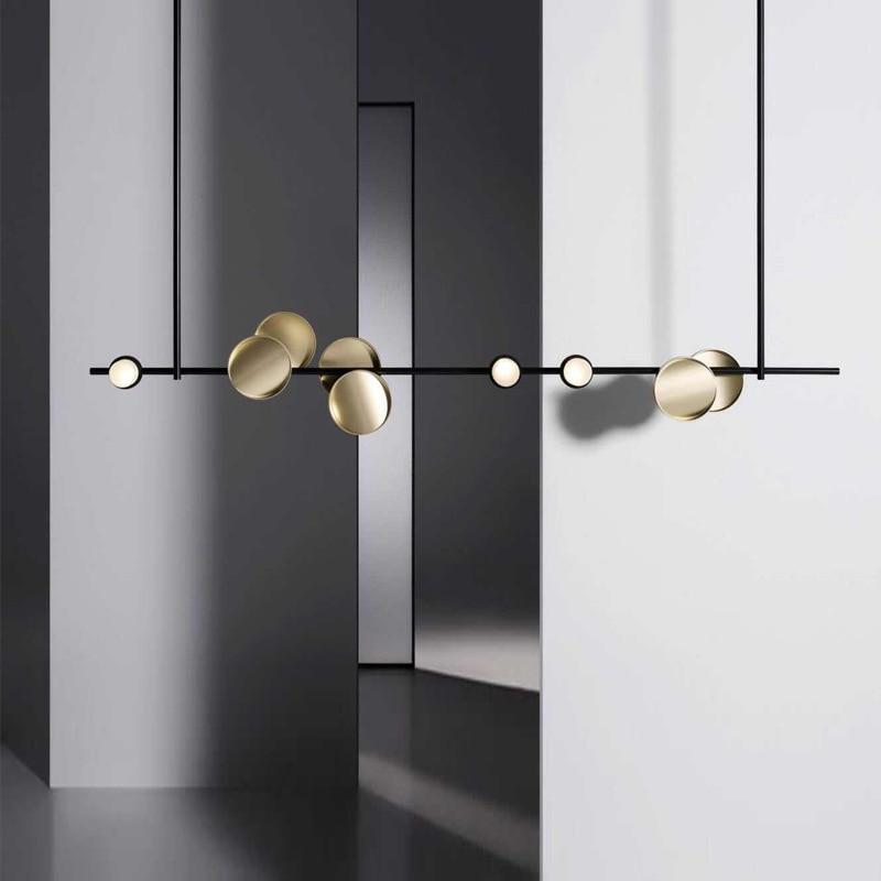 Candelabro led moderno de estilo vintage, lustres para lámpara de diseño de...
