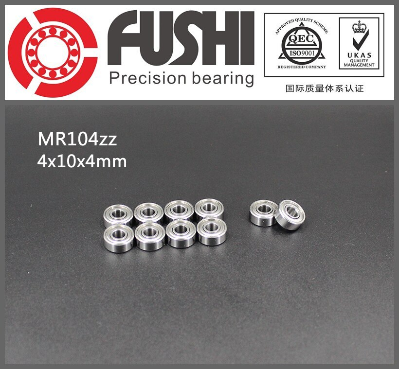 MR104ZZ ABEC-1 (100 قطعة) 4X10X4mm مصغرة الكرة محامل WML4010ZZ L-1040ZZ