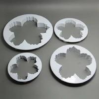 6setlotfree shipping 4pcs plastic peony petals cake fondant cutters molds set hb0961
