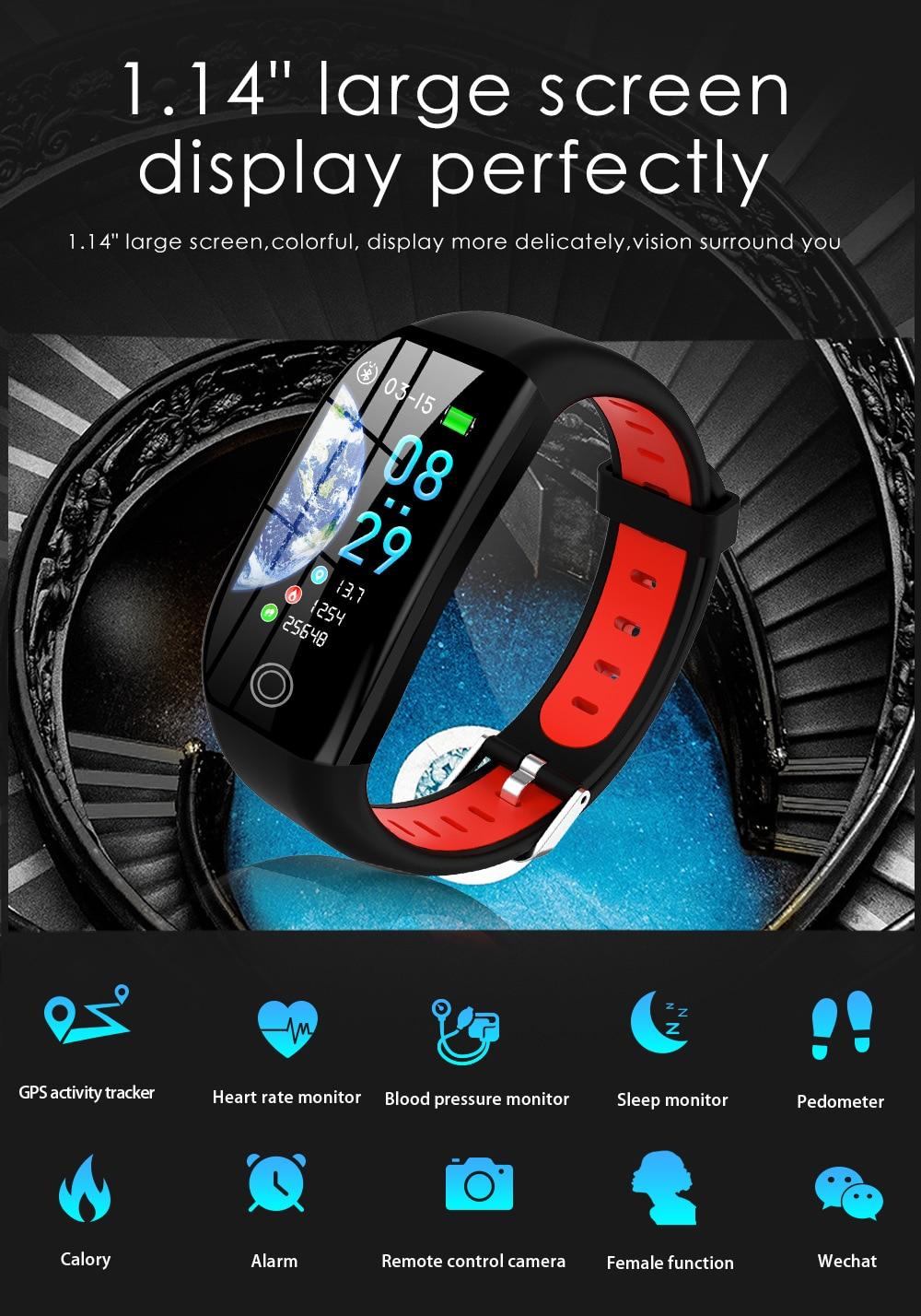 GPS Fitness Bracelet With Pressure Measurement Fitness Tracker Health Cardio Bracelet Heart Rate Blood Pedometer Smart Wristband enlarge